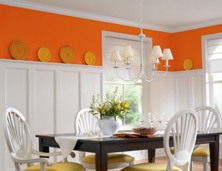 interior of a house painted dining room